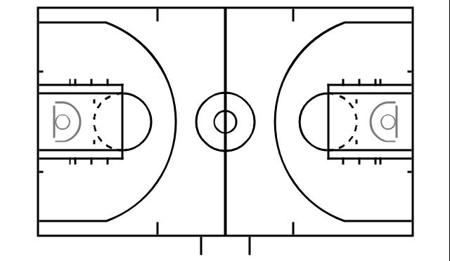 12 half basketball vector images