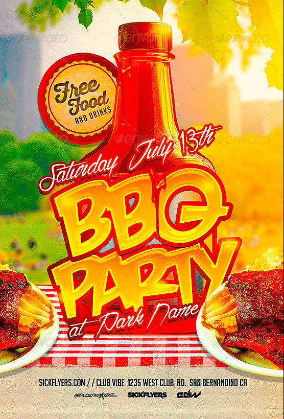 19 bbq flyer template psd images bbq party flyer template cookout