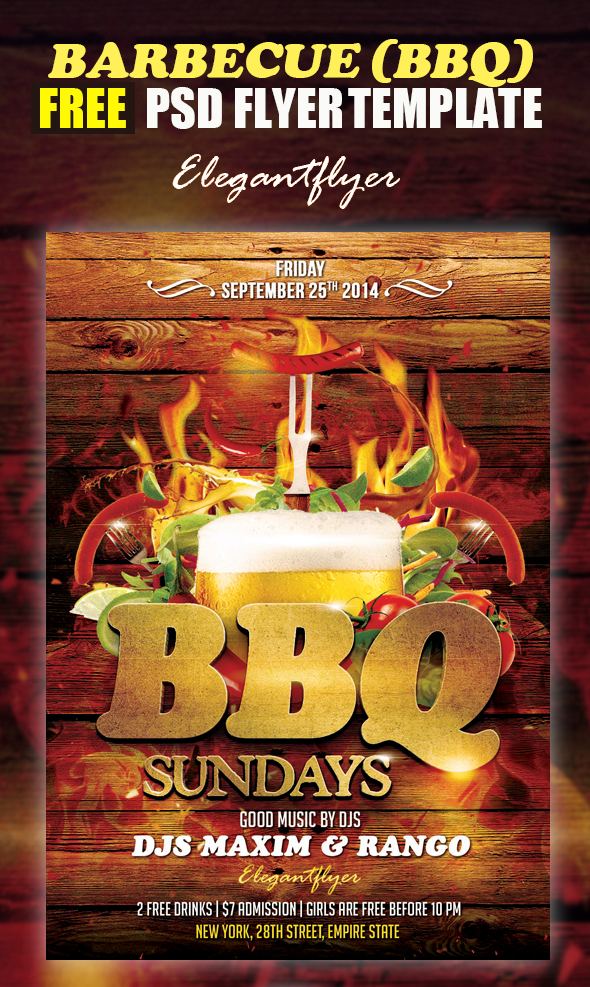 19 bbq flyer template psd images bbq party flyer for Bbq ticket template free