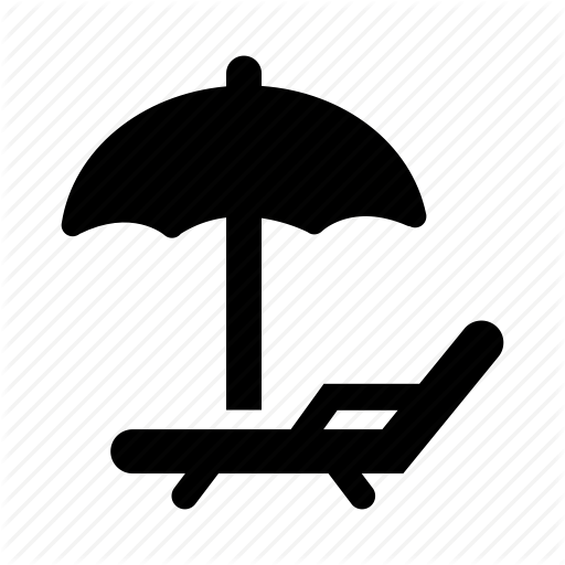 Beach Umbrella and Chair Icon