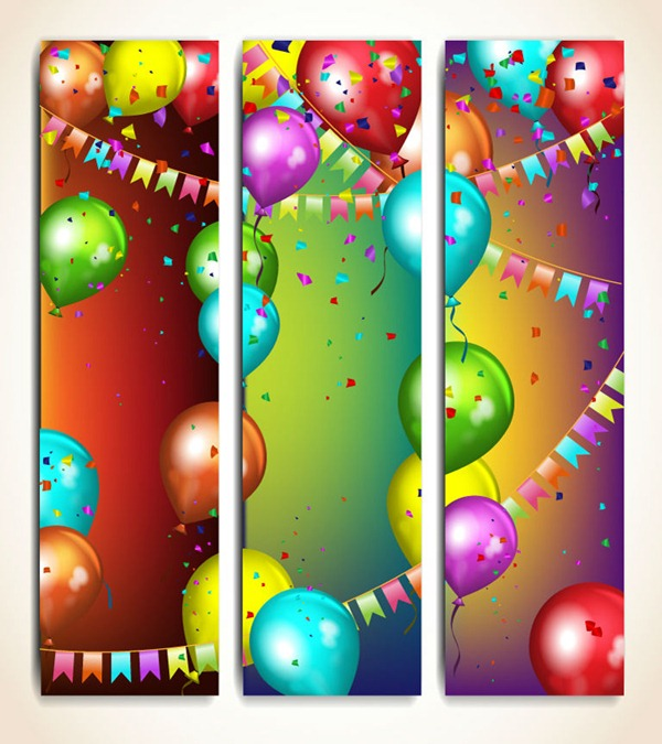 9 1st Birthday Balloon PSD Images