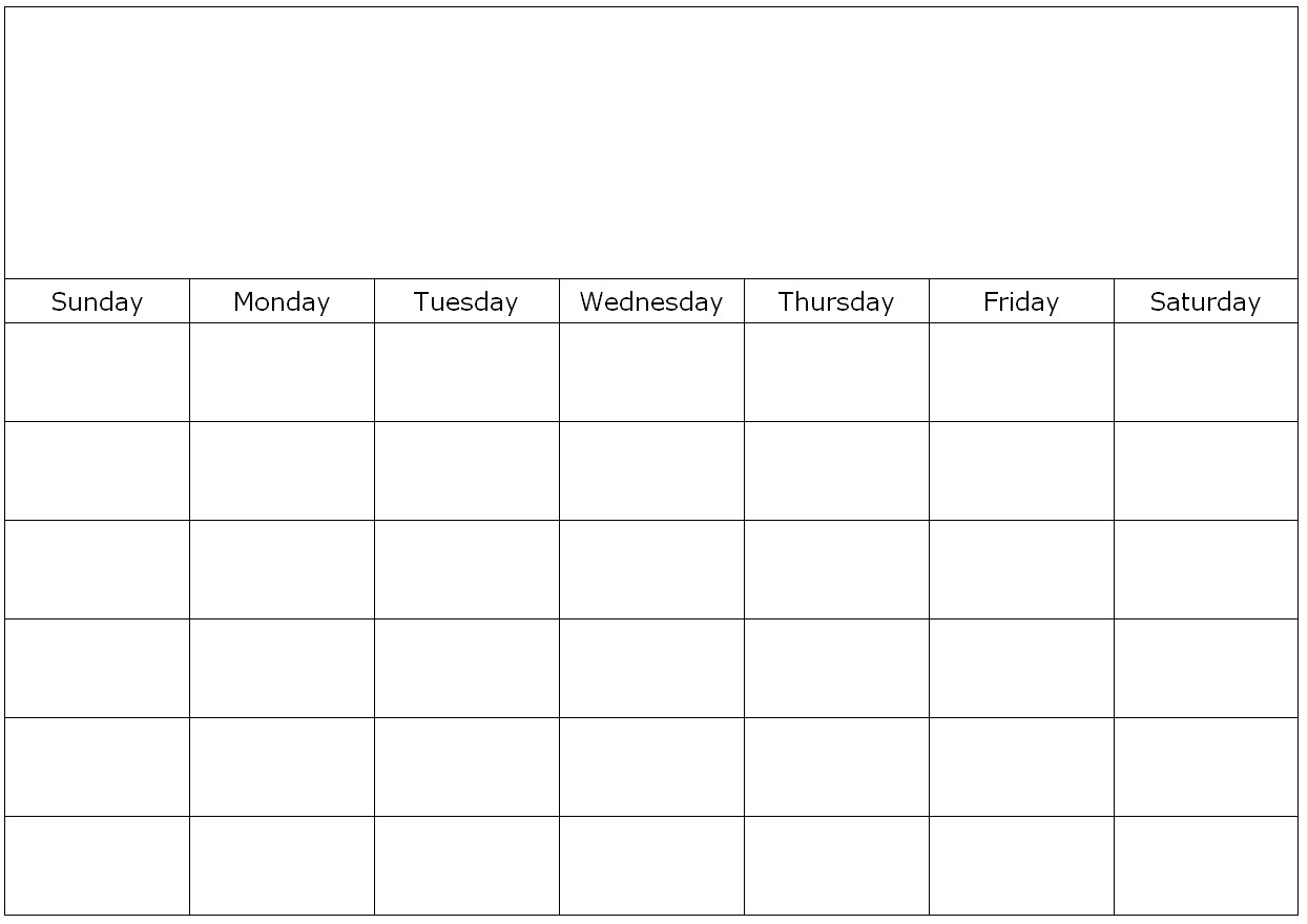 Weekly Calendar Blank Page : Simple blank calendar template images full size