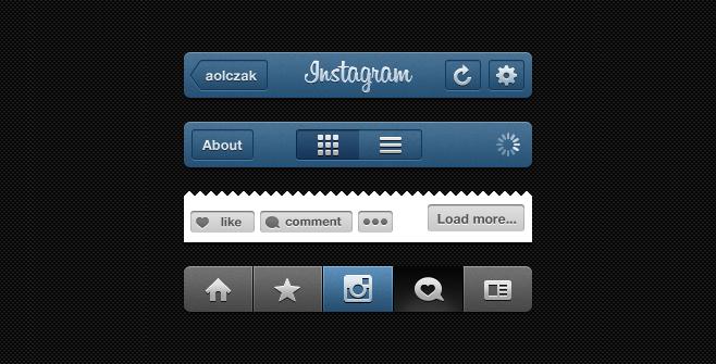 Blank Instagram Profile Template