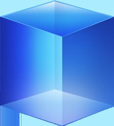Blue Cube Icon
