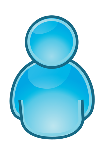 Blue People Icon Clip Art