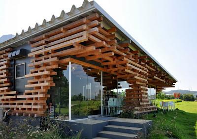 Architectural Ceiling Designs Via. Cafe Kureon Kengo Kuma