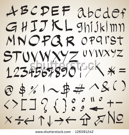Calligraphy Font Sketch