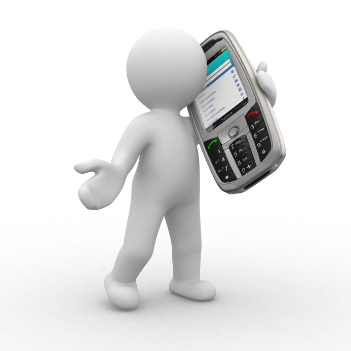 Cell Phone Contact Me Clip Art