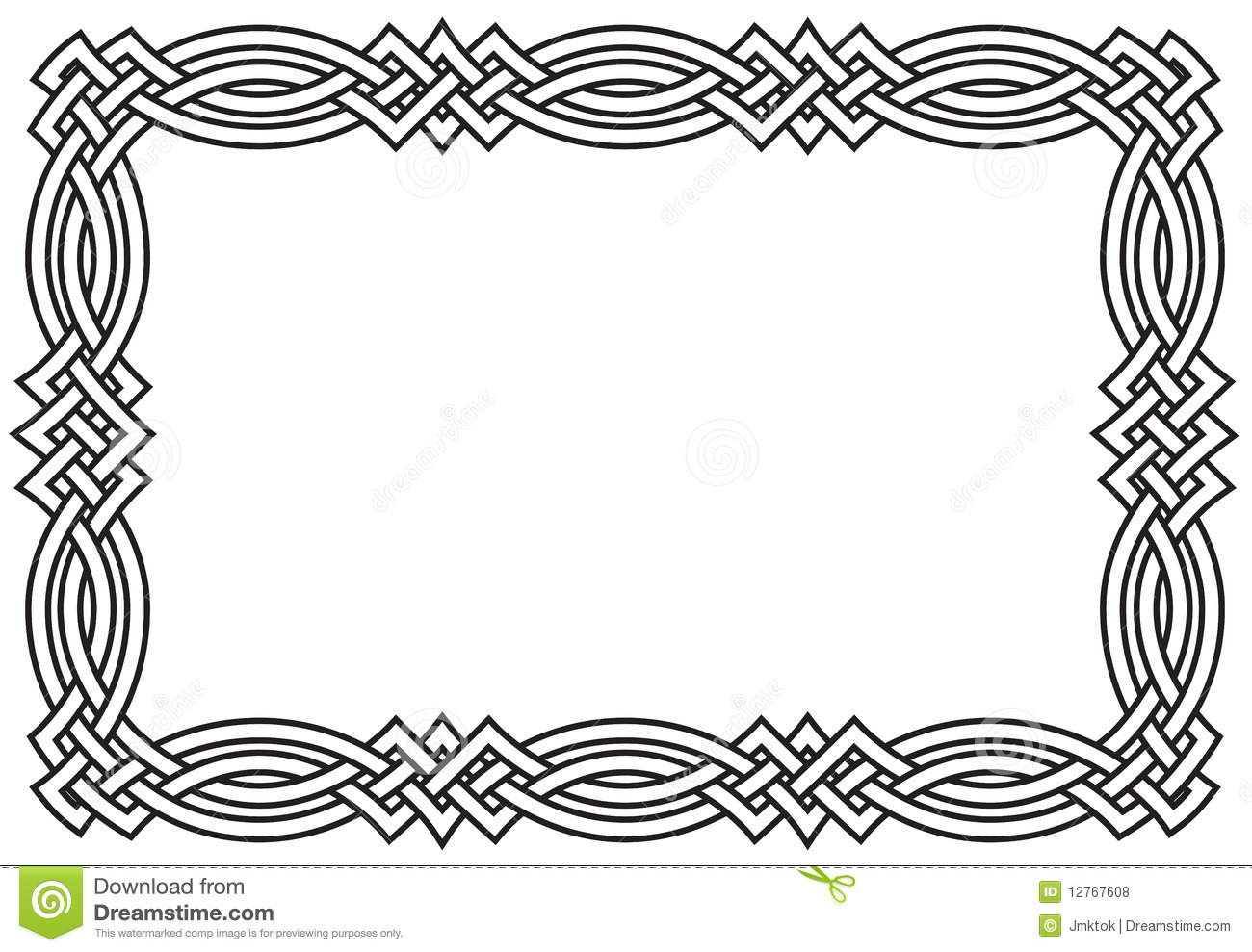 10 Celtic Knot Simple Border Vector Images