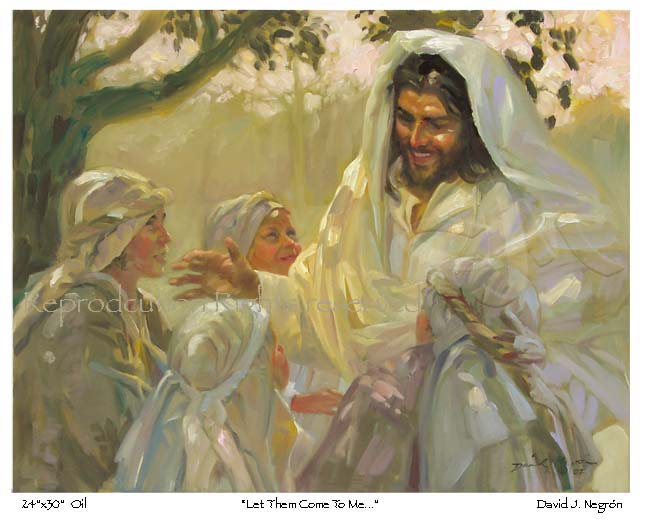 Christian Art Jesus with Children