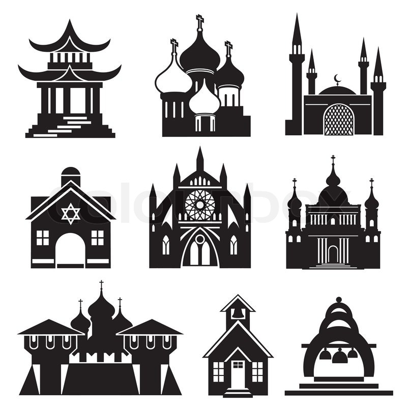 12 Religion Icon Black And White Images