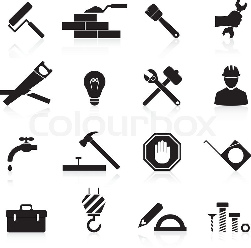 13 Construction Icons Vector Images