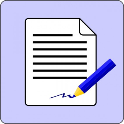 Contract Document Clip Art
