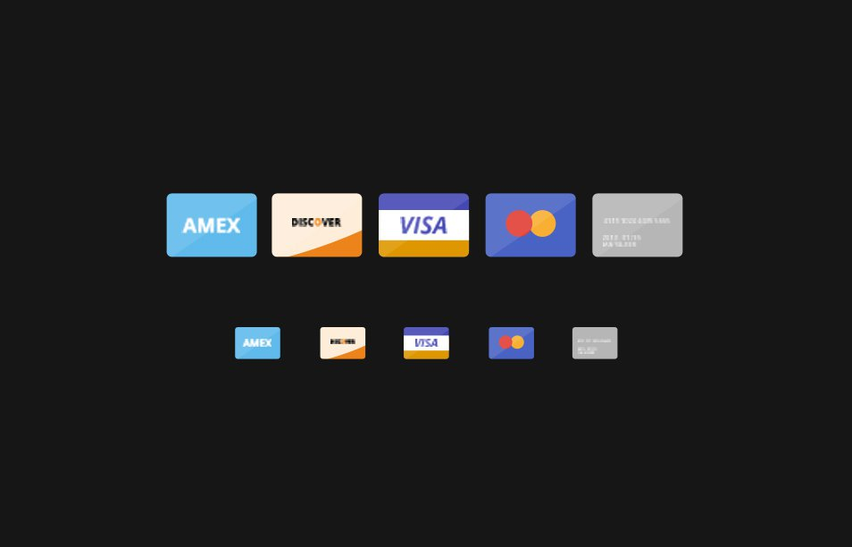 Credit Card Flat Icons