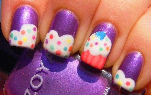 Cute Cupcake Nail Design