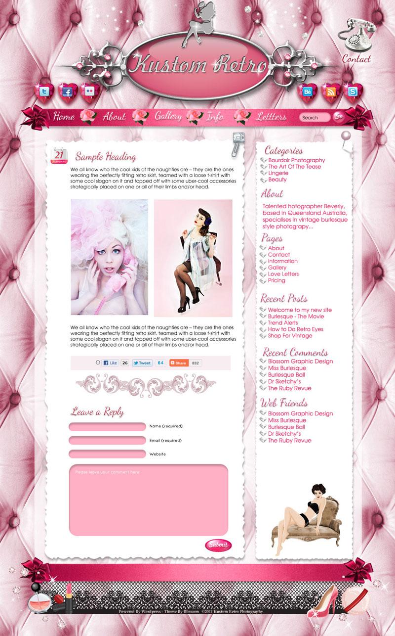 Feminine Boutique Website Designs