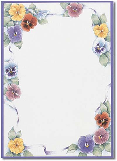 Flower Border Paper