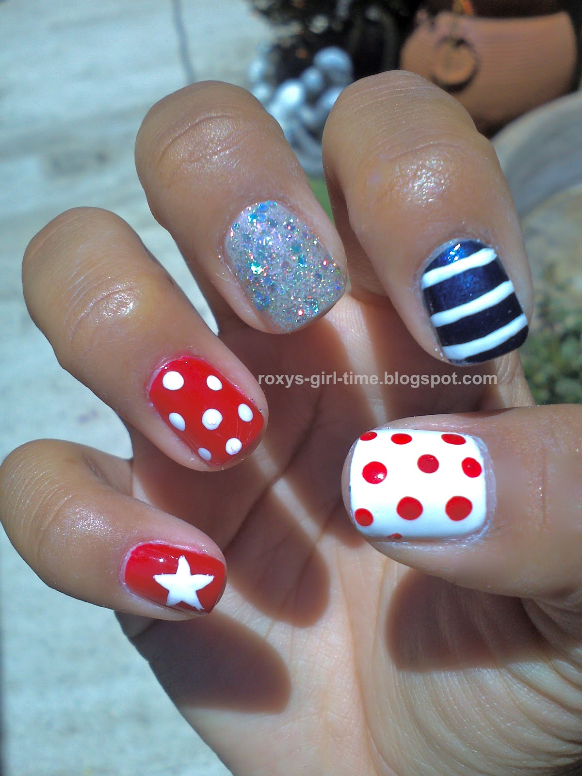 Fourth of July Acrylic Nail Designs