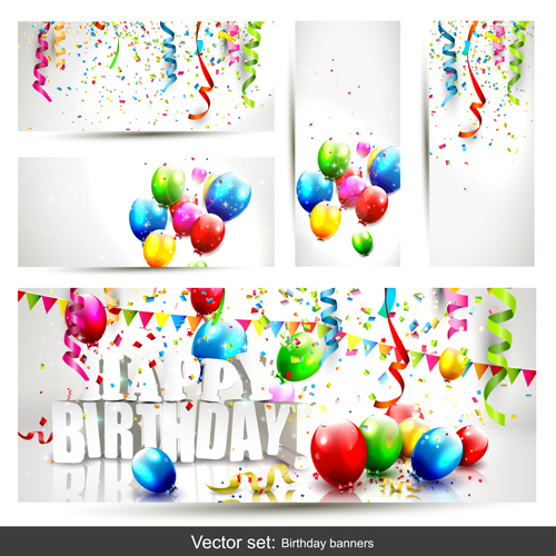 Free Birthday Balloon Banner Images