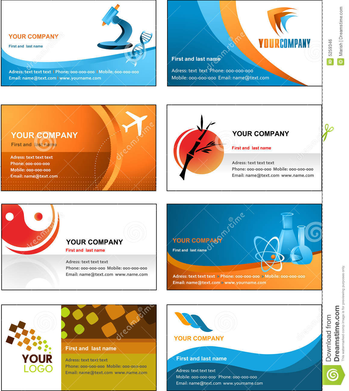 12 symbol free vector business card images free contact for Free business card design templates