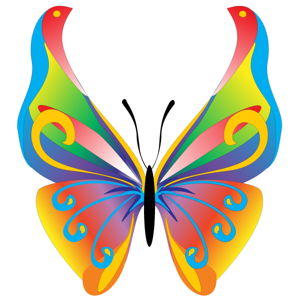 16 Butterfly Vector Free Clip Art Images