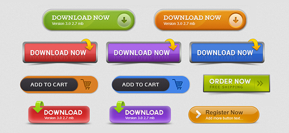 5 Free Register Now Button PSD Images
