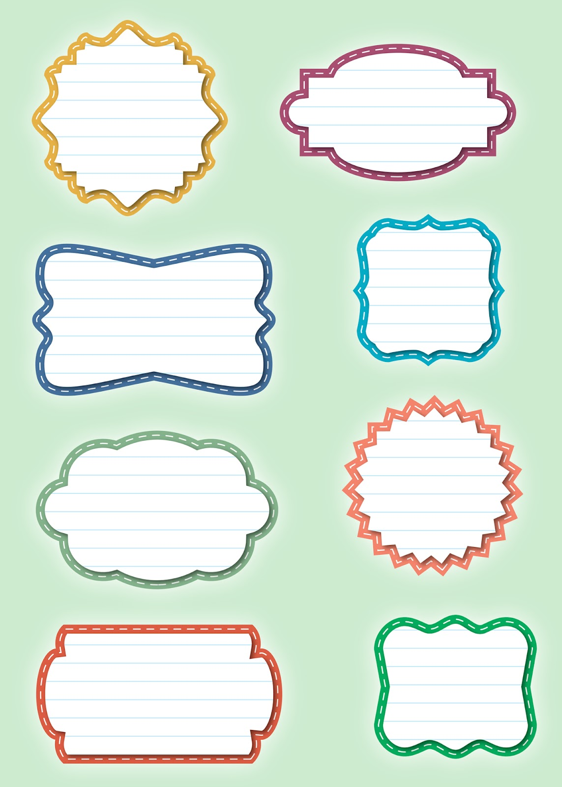 Free Label Shapes Vector