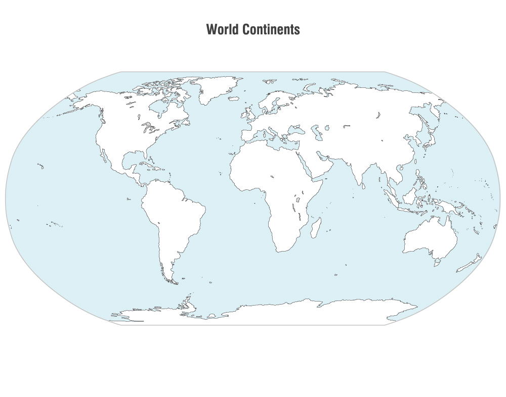 12 Vector World Map Continents Images