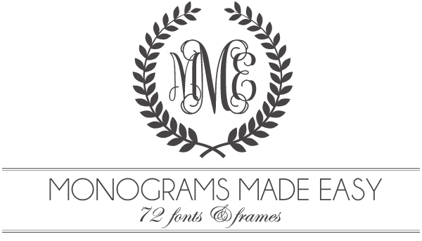 7 Vector Monogram Fonts Images