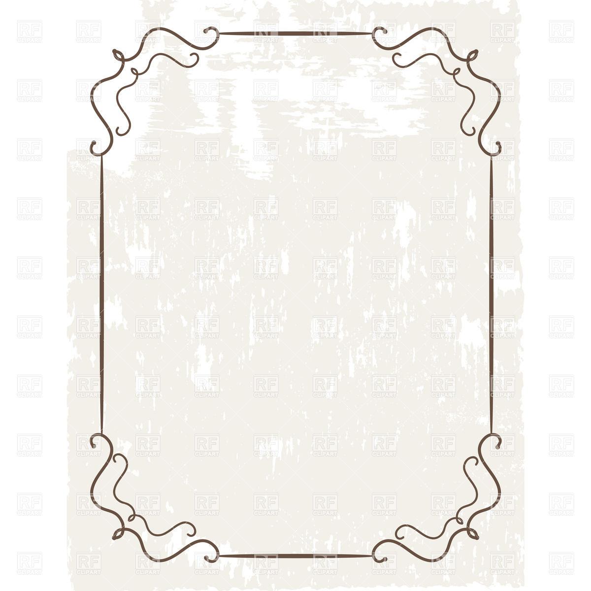 Free Simple Vintage Frame Vector