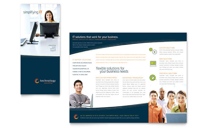 Free Templates Tri-Fold Brochure Examples