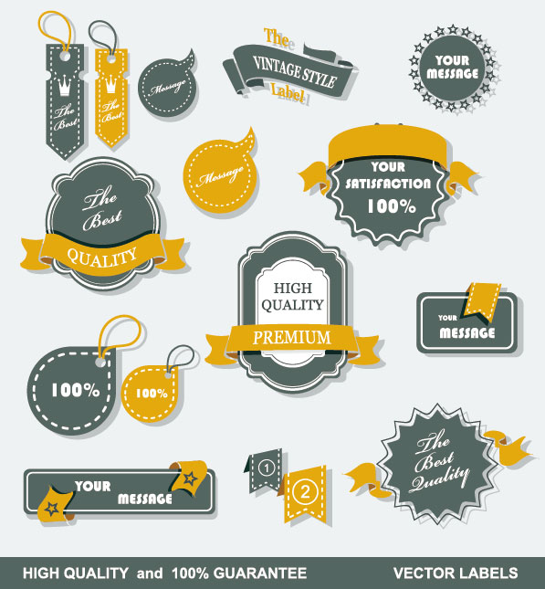 Free Vector Decorative Labels