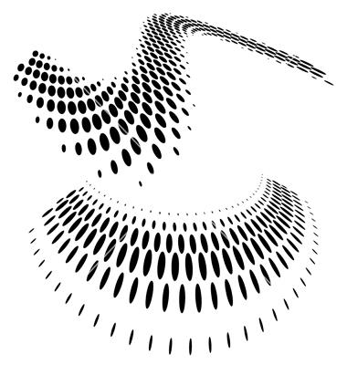 12 Vector Circle Halftone Dots Images