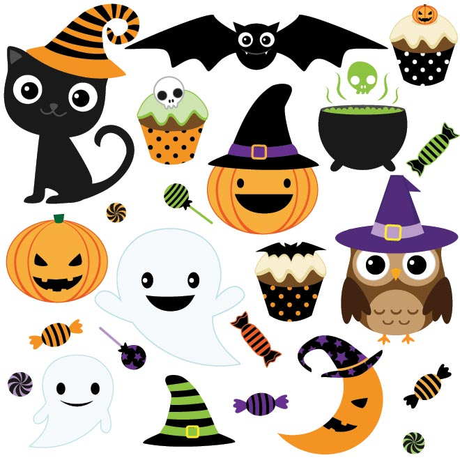 9 Happy Halloween Vector Free Images