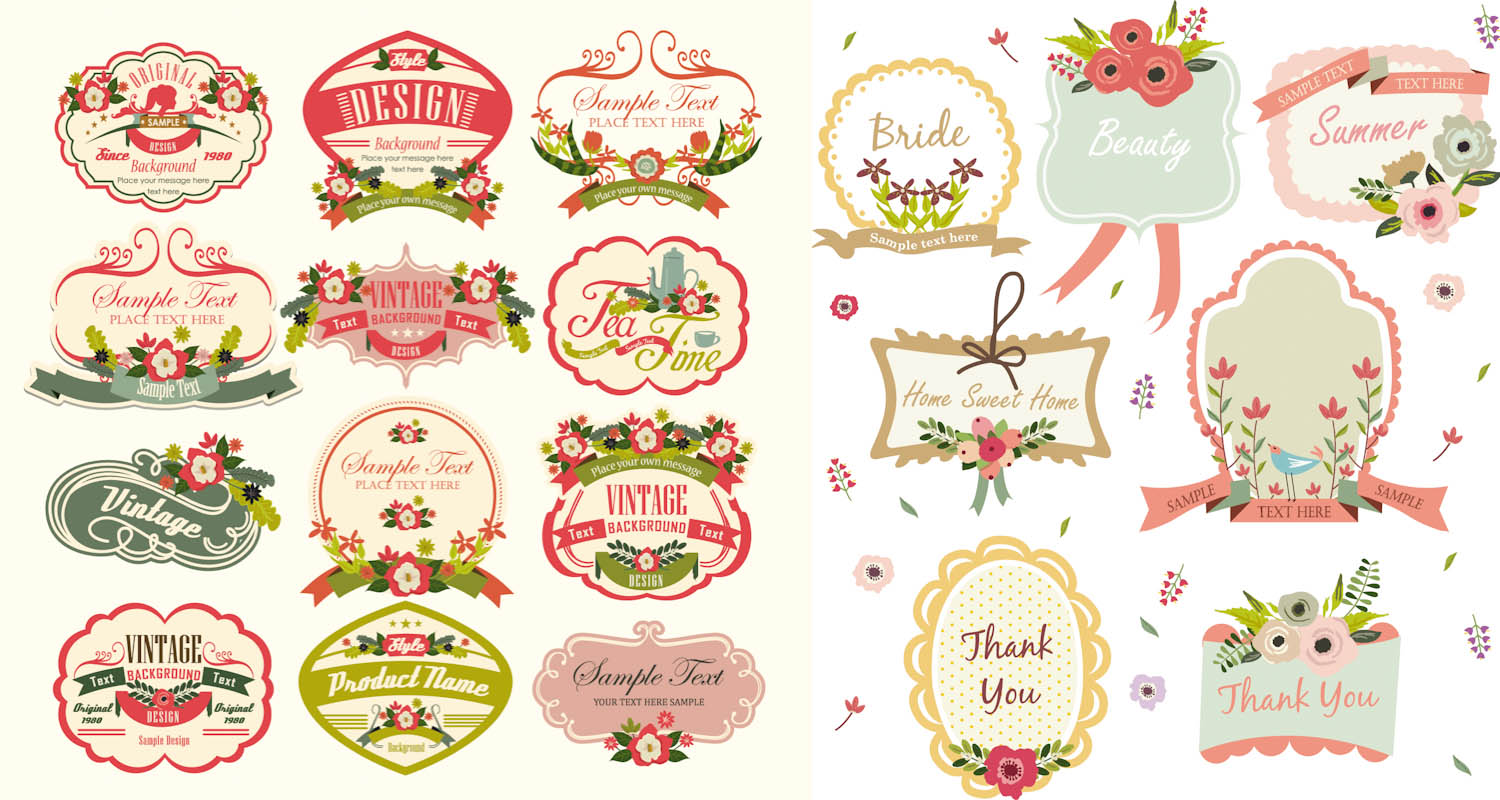 19 Vector Label Images - Free Vintage Label Template ...