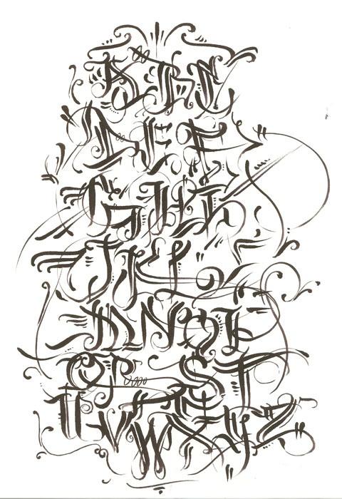 Graffiti Calligraphy Alphabet