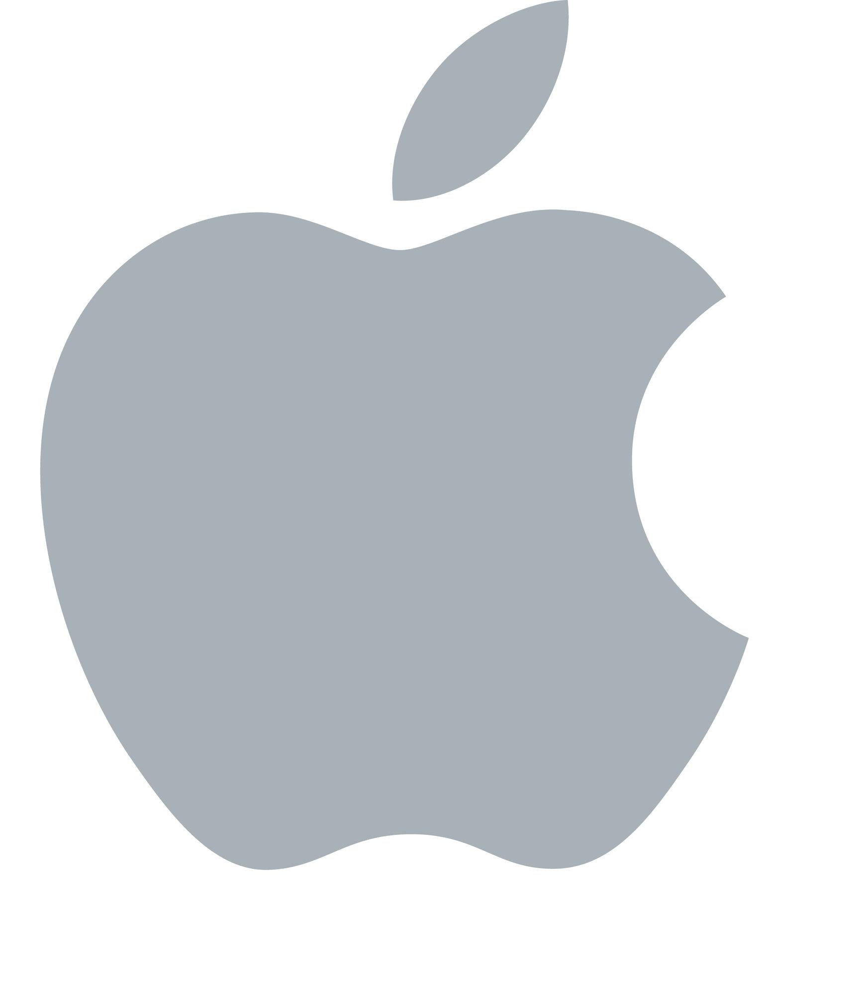 Grey Apple Logo