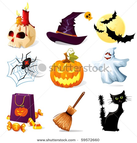 6 Halloween Holiday Icons Images