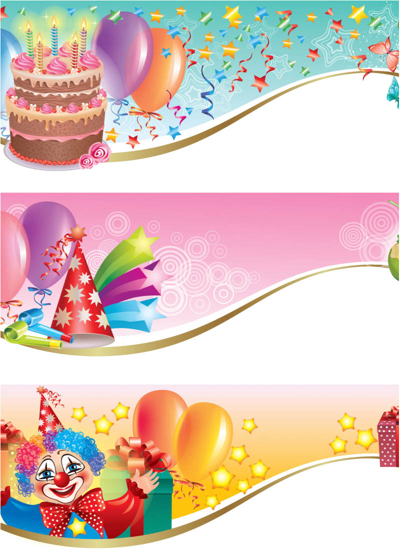 17 Vector Happy Birthday Banner Printable Images Happy