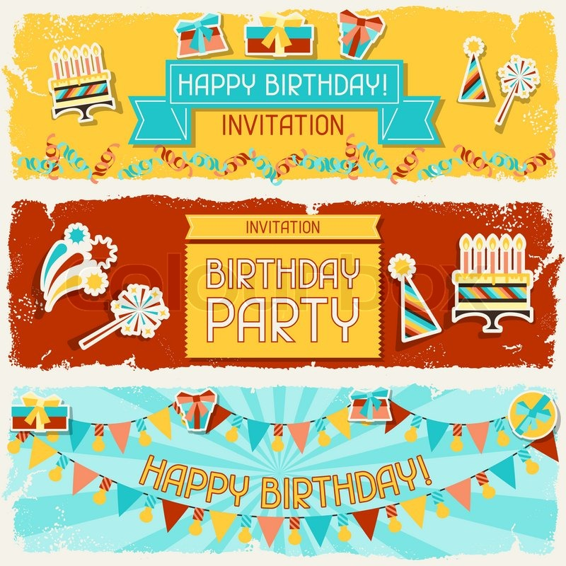 Happy Birthday Banner Vector