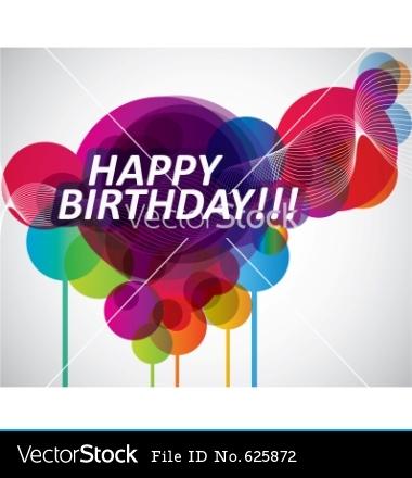 Happy Birthday Banner Vector