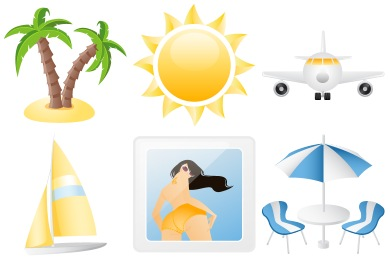8 Summer Holiday Icons Images