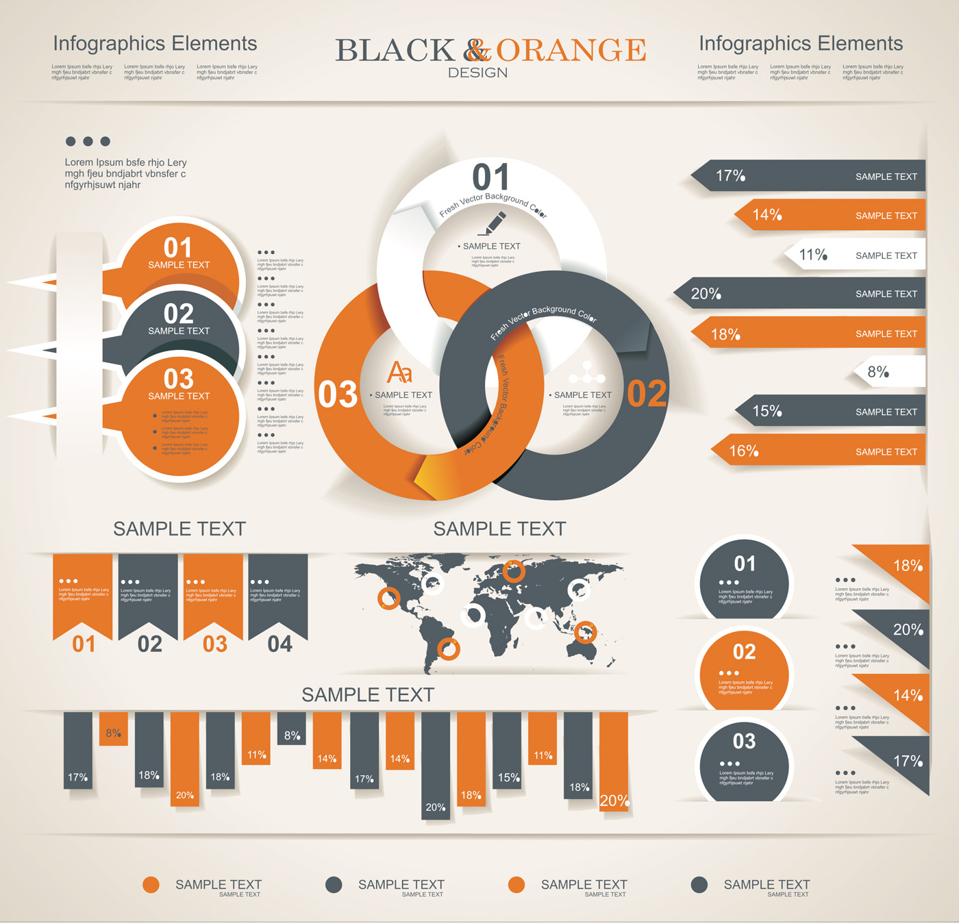 10 Free Blacks Of Infographics Images