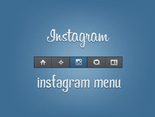 Instagram PSD Template