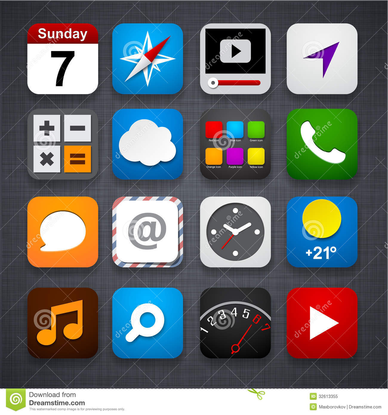 20 vector app icons to images free app icons vector app for Iphone picture apps free