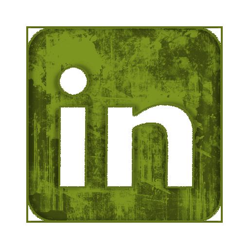 LinkedIn Social Media Icon Green