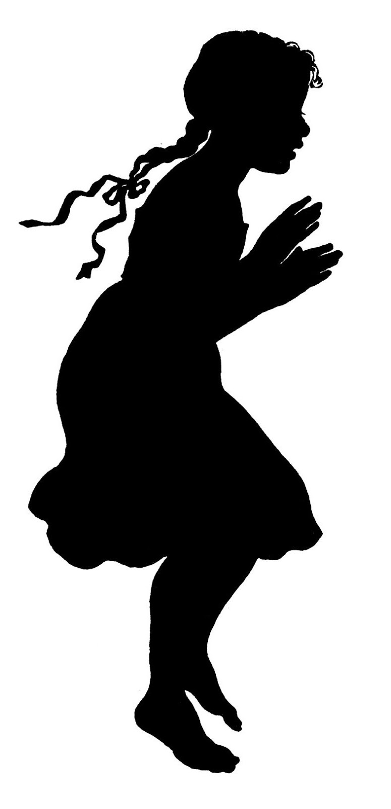 13 Girl Silhouette Vector Images
