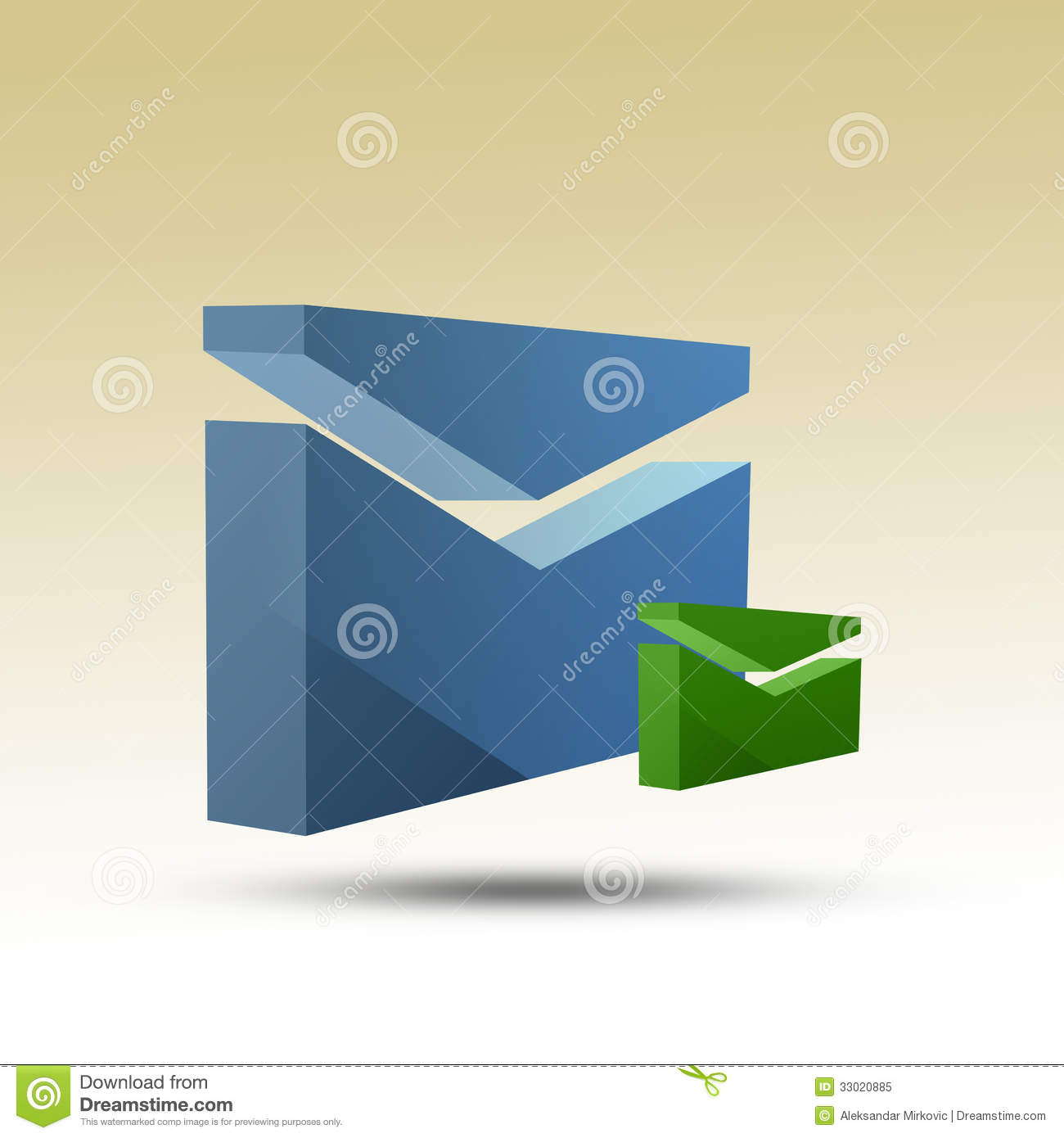 Mail Email Icon 3D