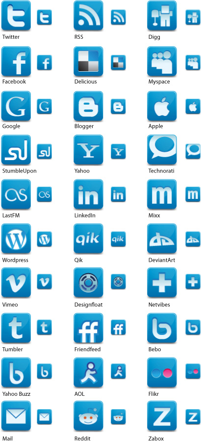 Media Social Network Icons