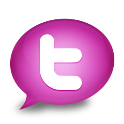 Media Social Twitter Icon Purple